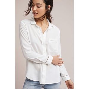 Anthropologie Cloth & Stone Dale White Top M